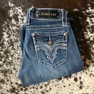 {L.A. Idol} low rise boot cut jeans